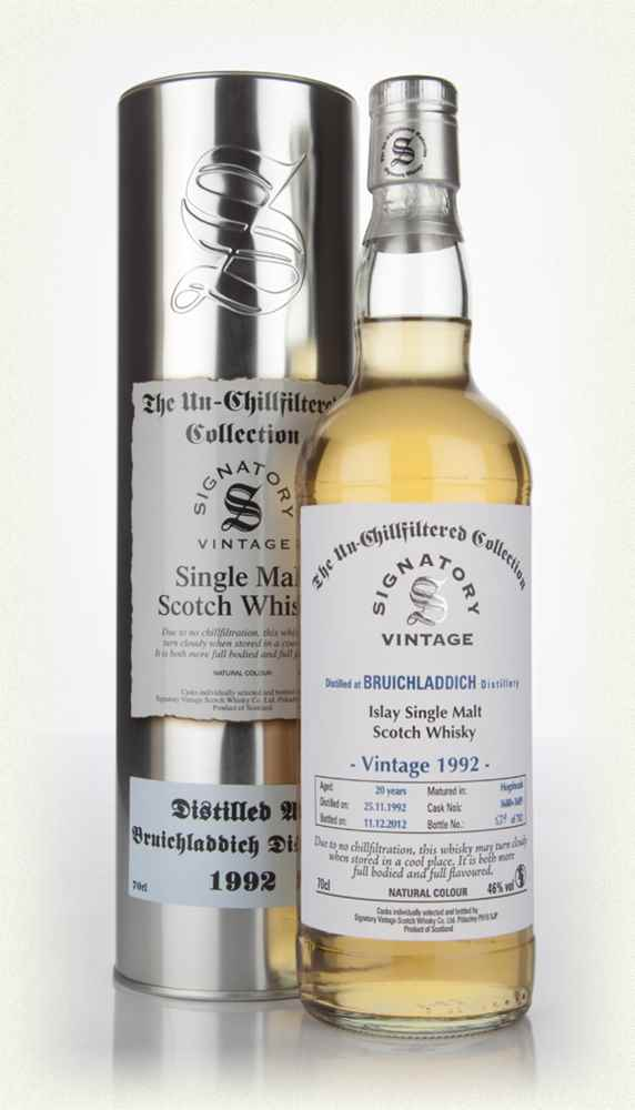 Bruichladdich 20 Year Old 1992  - Un-Chillfiltered (Signatory)