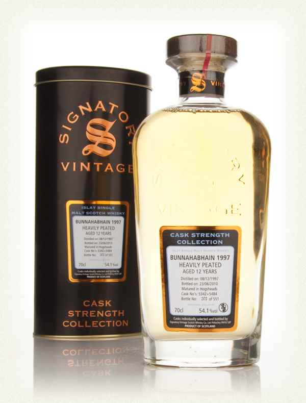 Bunnahabhain 12 Year Old 1997 Heavily Peated Casks 5342 & 5484 - Cask Strength Collection (Signatory)