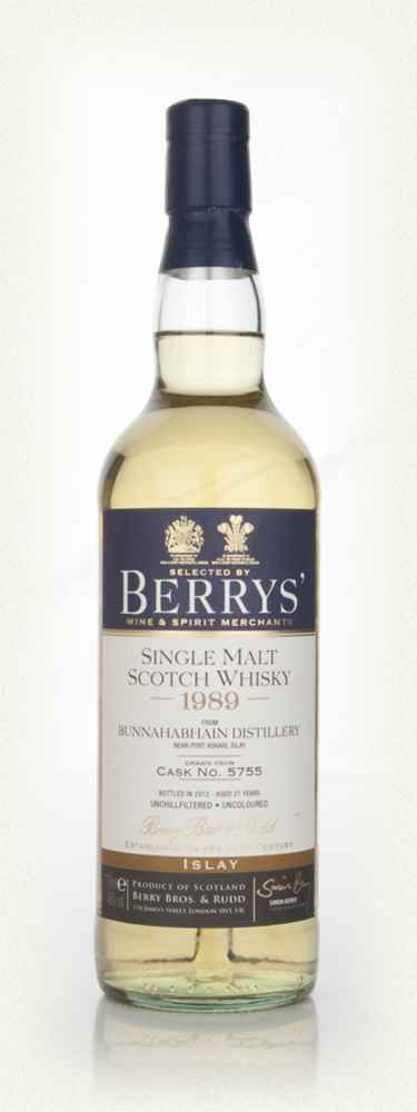 Bunnahabhain 21 Year Old 1989 (cask 5755) (Berry Bros. & Rudd)