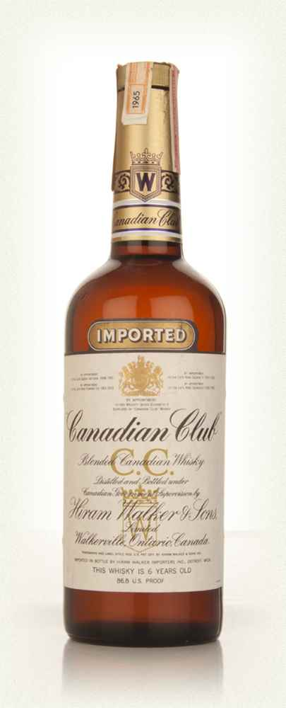 Canadian Club 6 Year Old Whisky - 1965