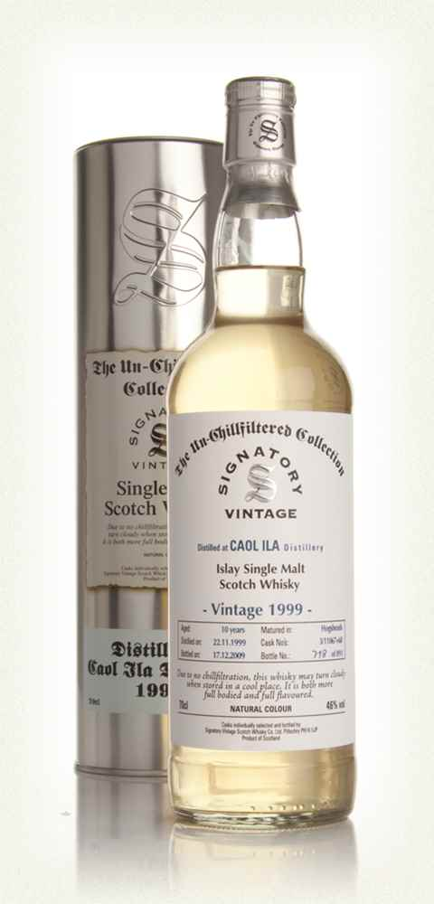 Caol Ila 10 Year Old 1999 - Un-Chillfiltered (Signatory)