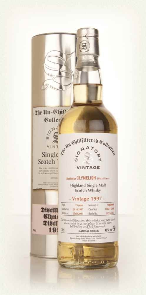 Clynelish 15 Year Old 1997 (casks 12367+12368) - Un-Chillfiltered (Signatory)