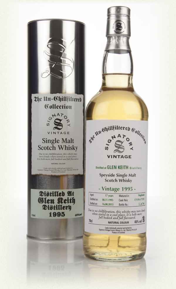 Glen Keith 17 Year Old 1995 (casks 171191+171192) - Un-Chillfiltered (Signatory)