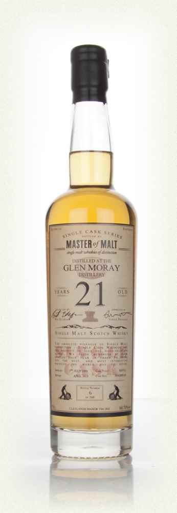 Glen Moray 21 Year Old 1991 - Single Cask (Master of Malt)