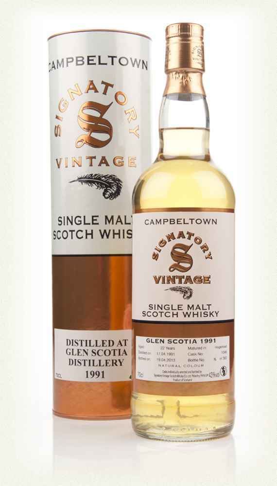 Glen Scotia 22 Year Old 1991 (cask 1046) (Signatory)