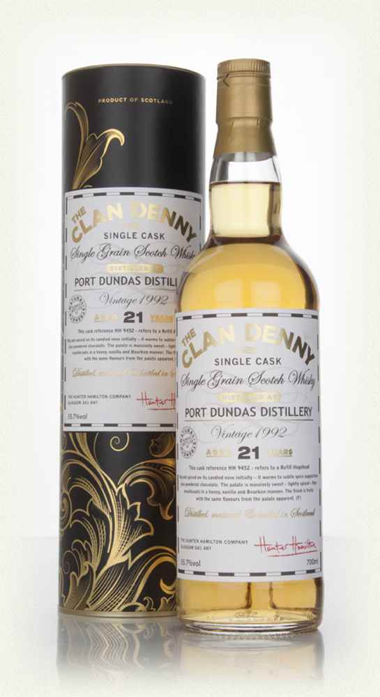 Port Dundas 21 Year Old 1992 (cask 9452) - The Clan Denny (Douglas Laing)