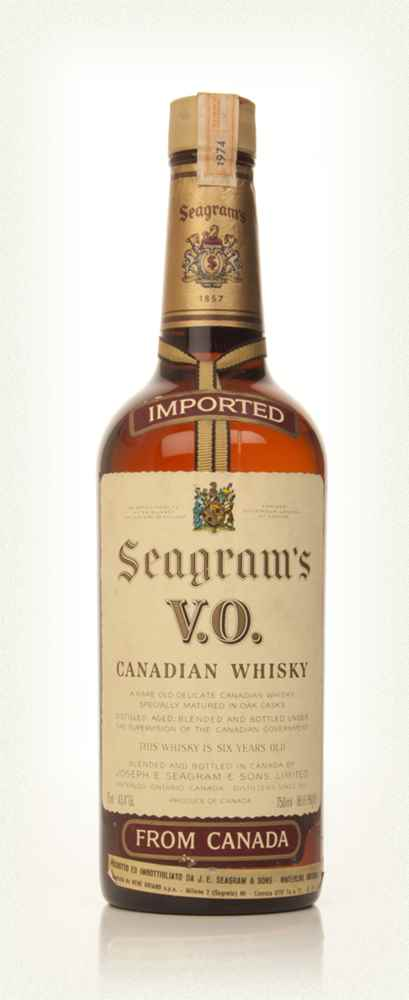 Seagram's V.O. 6 Year Old Canadian Whisky - 1974