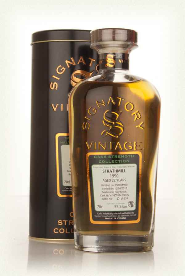 Strathmill 22 Year Old 1990 (casks 100181+100182) - Cask Strength Collection (Signatory)
