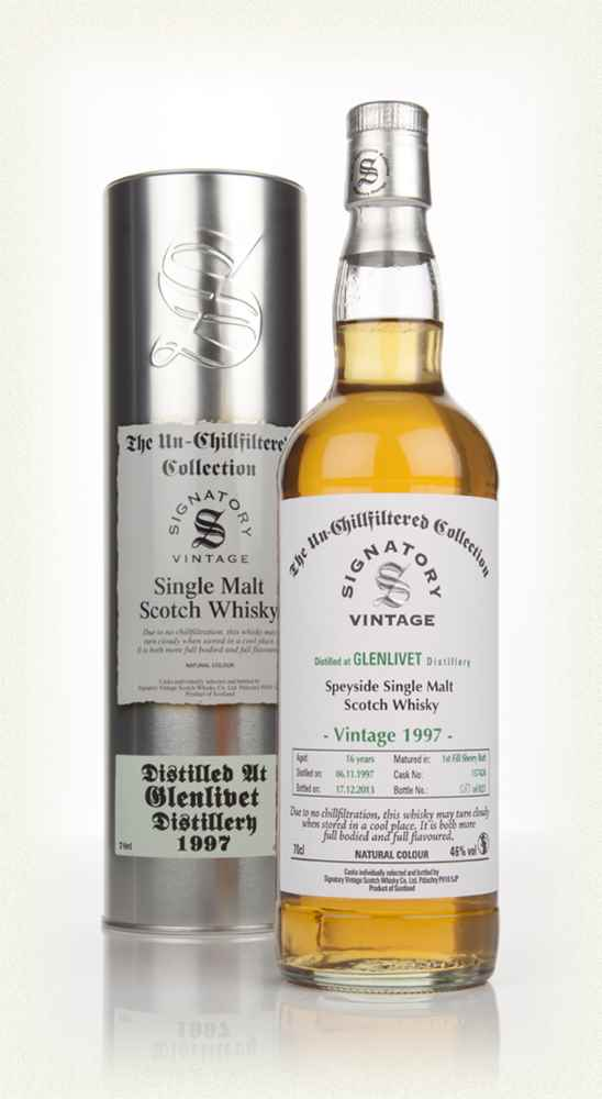 Glenlivet 16 Year Old 1997 (cask 157424) - Un-Chillfiltered (Signatory)